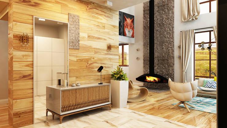 Pasillos, vestíbulos y escaleras de estilo minimalista de Apolonov Interiors Minimalista