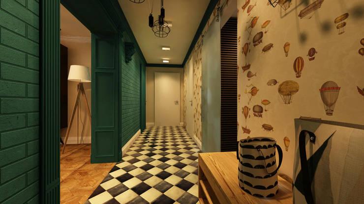 Дизайн проект квартиры 100 м2: Коридор и прихожая в . Автор – Apolonov Interiors