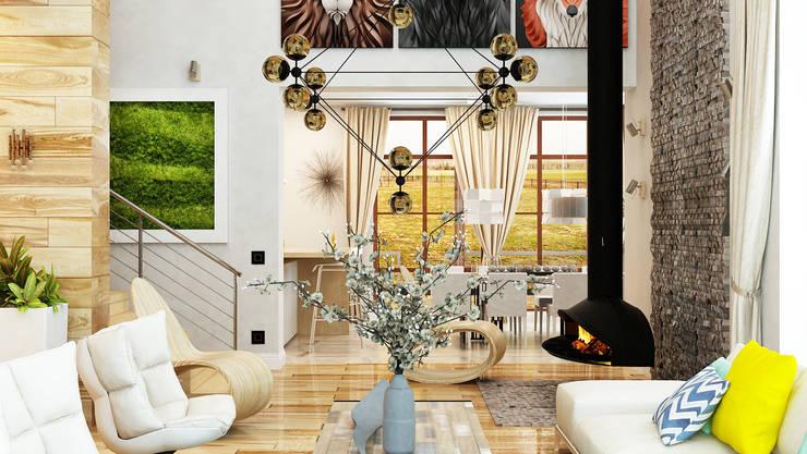 Salones de estilo minimalista de Apolonov Interiors Minimalista