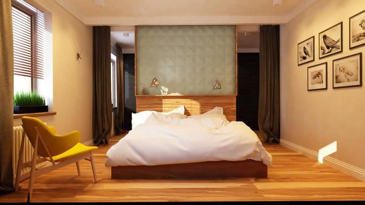 Projekty,  Sypialnia zaprojektowane przez Apolonov Interiors
