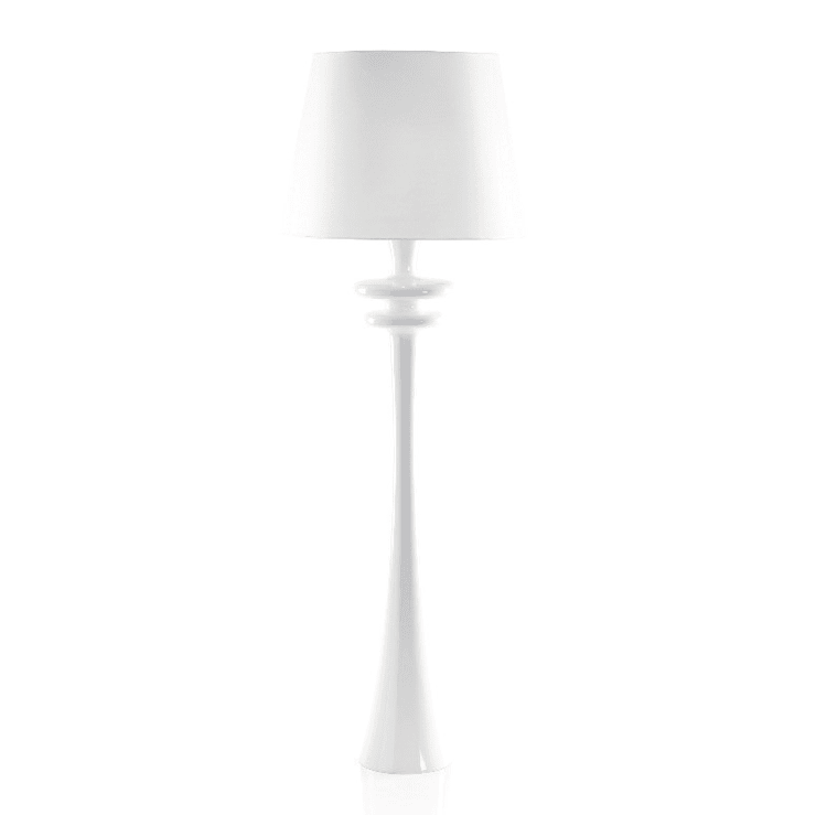 White GALAXIE Floor Lamp:  Living room by All the hues