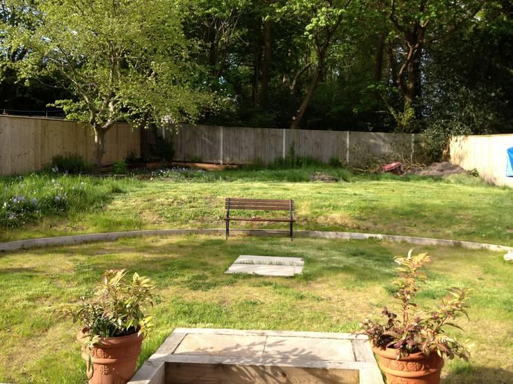 Before work began Jardines de estilo rural de Roeder Landscape Design Ltd Rural