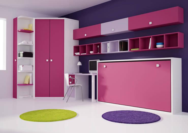 Cama abatible con armario y estarnterias: Habitaciones infantiles de estilo  de Muebles y Decoración Marisa Cardona