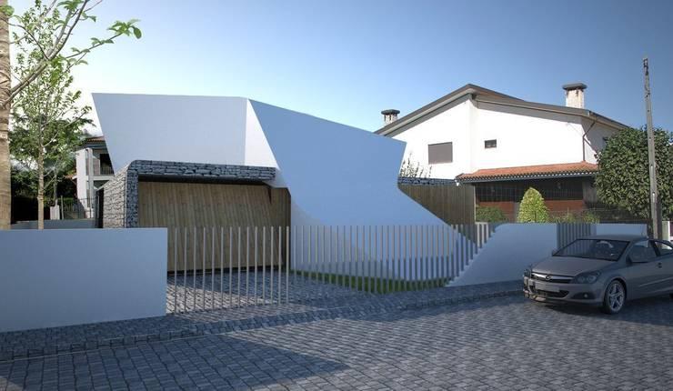 Projekty, nowoczesne Domy zaprojektowane przez Office of Feeling Architecture, Lda