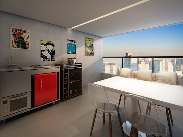 Ruang Makan oleh MM18 Arquitetura