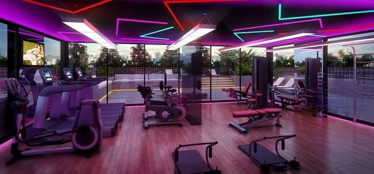 Ruang Fitness oleh MM18 Arquitetura