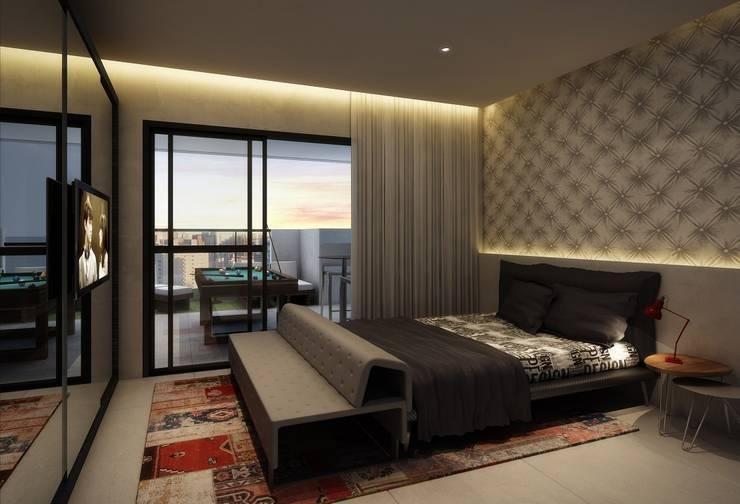 Interiores - Apartamento decorado: Quartos  por MM18 Arquitetura