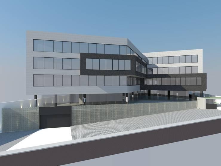 Edifício Nova Quest: Espaços comerciais  por MM18 Arquitetura