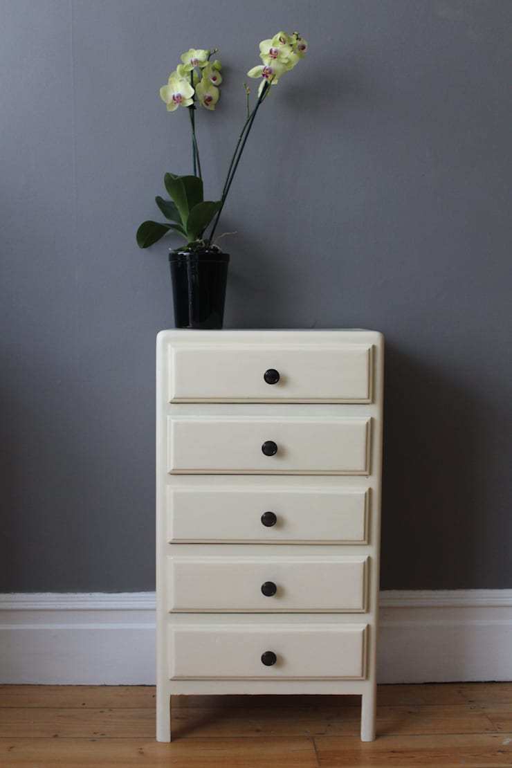 Vintage French chest of drawers:  Bedroom by Owl and the Elephant