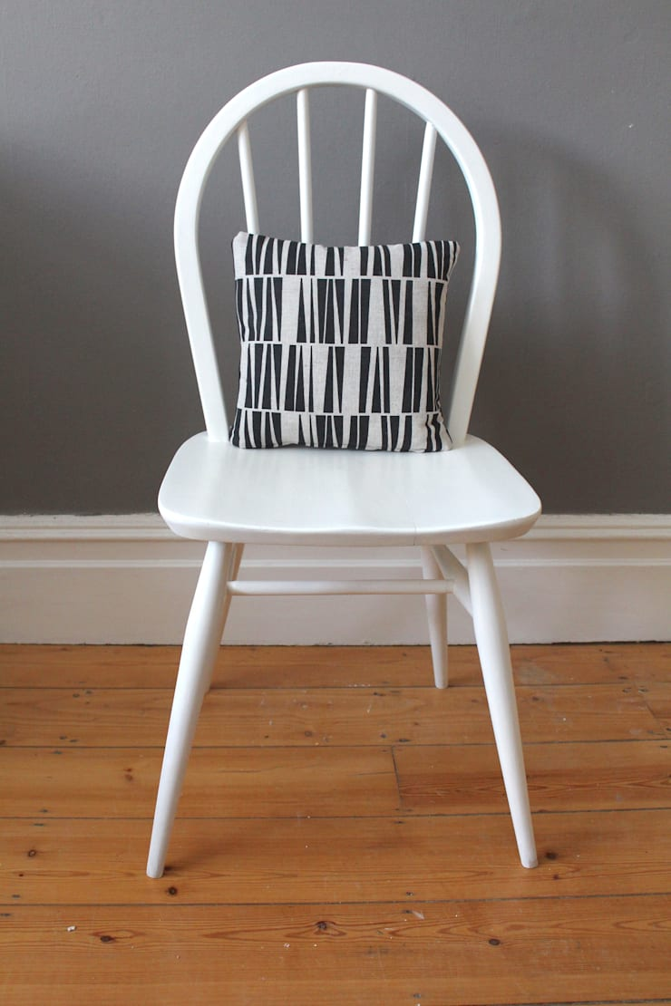 Ercol Windsor white painted chair:  Dining room by Owl and the Elephant