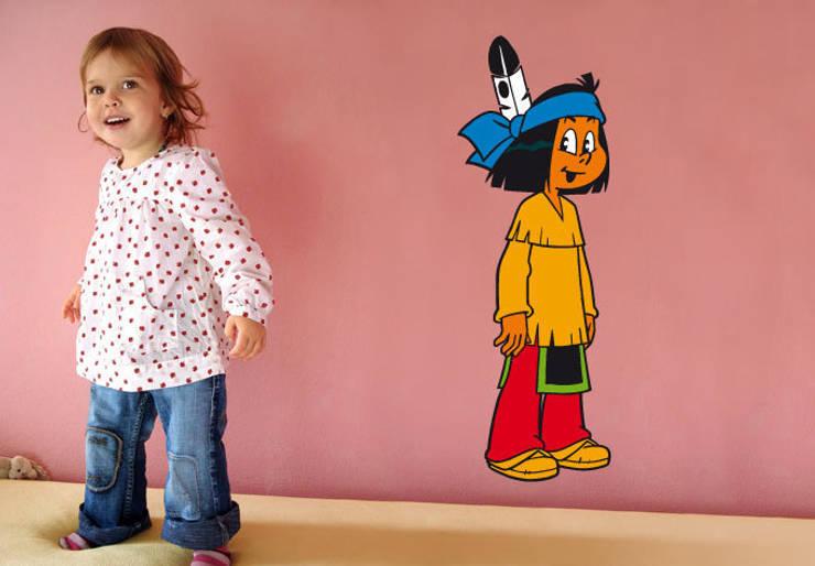 Yakari - Sourire: Chambre d'enfants de style  par wall-art.fr
