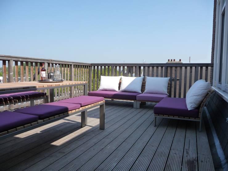 Particulier dakterras:  Balkon, veranda & terras door Vormad - Sittingimage
