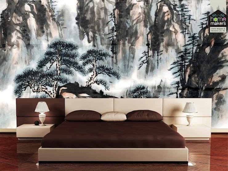 Art-work: modern Bedroom by home makers interior designers & decorators pvt. ltd.