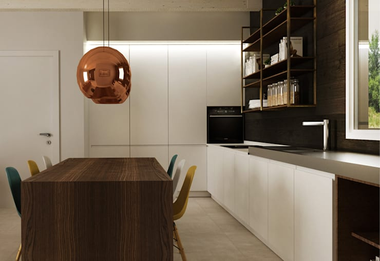 Quadrilocale retrò: Cucina in stile  di HP Interior srl