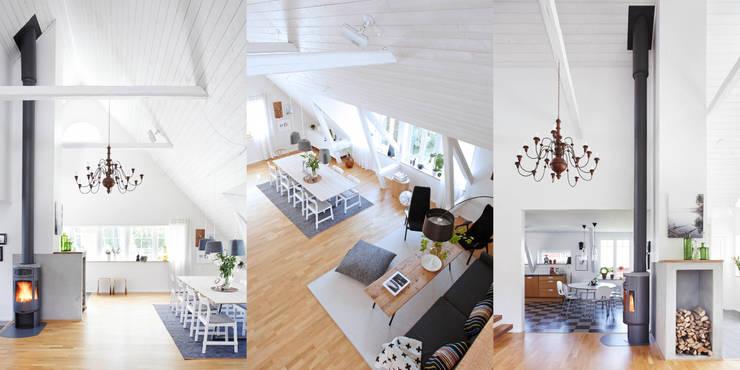 Salon de style de style Scandinave par hEMMA Interior