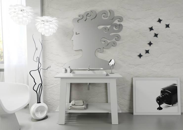 Bath Table 90; Musa Mirror; Stars:  in stile  di krayms A&D - Fa&Fra, Moderno