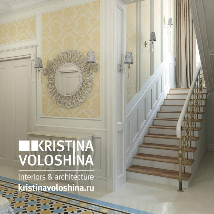 Дом  на Рублёвском шоссе 345 м кв: Коридор и прихожая в . Автор – kristinavoloshina