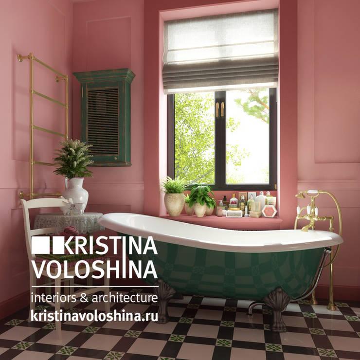 Дом  на Рублёвском шоссе 345 м кв: Ванные комнаты в . Автор – kristinavoloshina