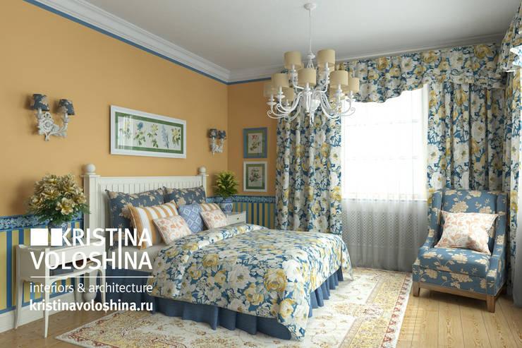 Дом  на Рублёвском шоссе 345 м кв: Спальни в . Автор – kristinavoloshina