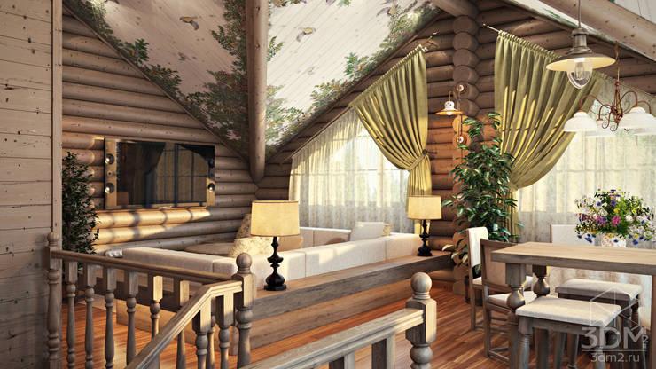 08: Гостиная в . Автор – студия визуализации и дизайна интерьера '3dm2'