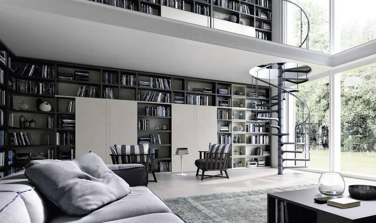 Sala de estar  por Mobilificio Marchese