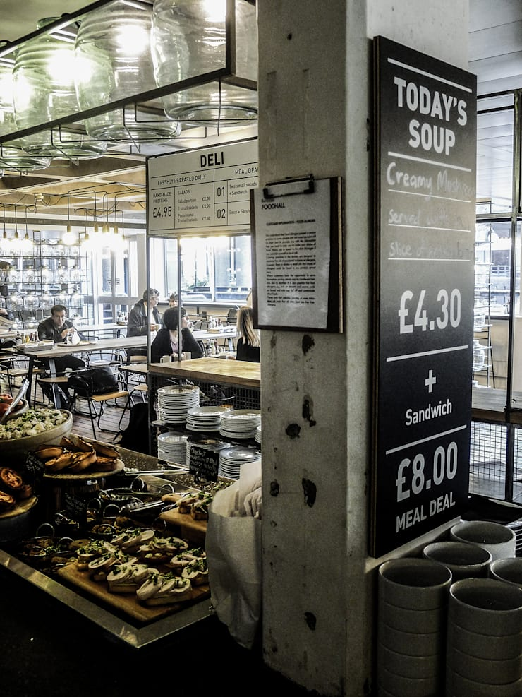 Barbican Foodhall - Signage :  Gastronomy by helen hughes design studio ltd
