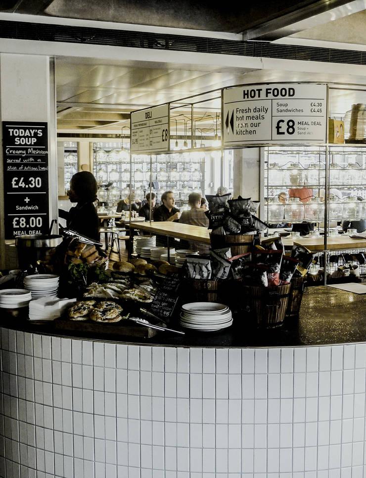 Barbican Foodhall - Signage:  Gastronomy by helen hughes design studio ltd