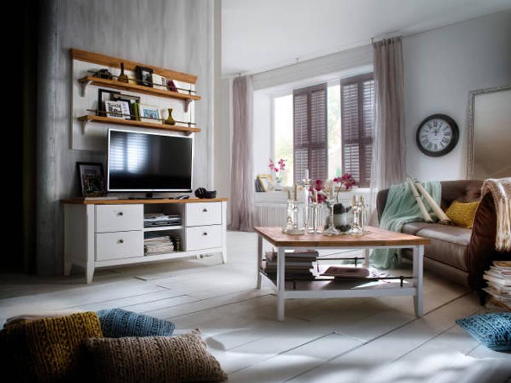 PROVENCE lite drewno - akacja: styl , w kategorii Salon zaprojektowany przez mebel4u