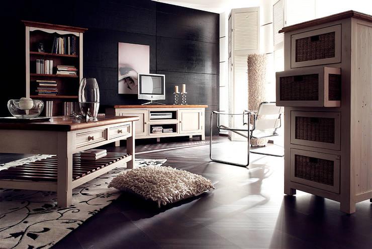 Meble MADIE sosna postarzana: styl , w kategorii Salon zaprojektowany przez mebel4u