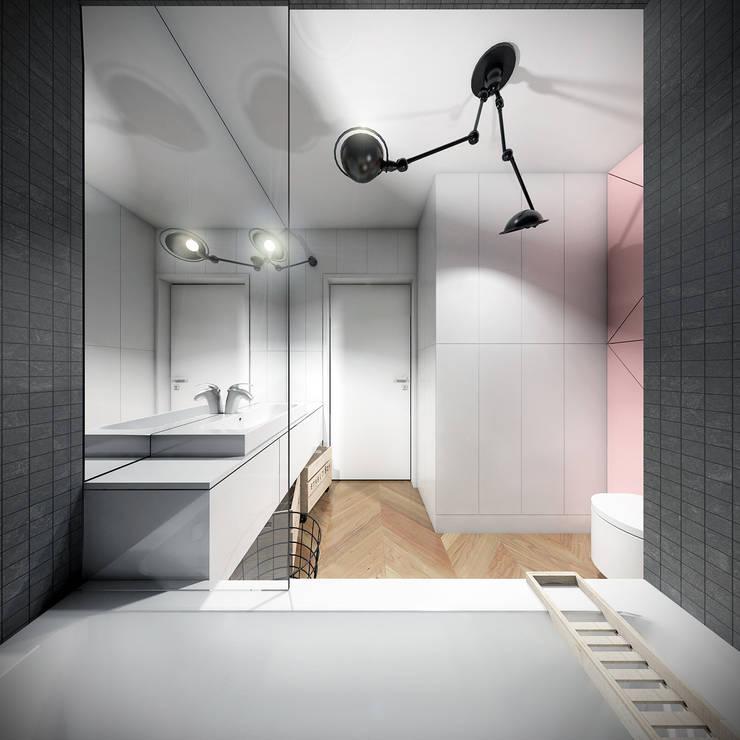 Łazienka: styl , w kategorii Łazienka zaprojektowany przez HUK atelier