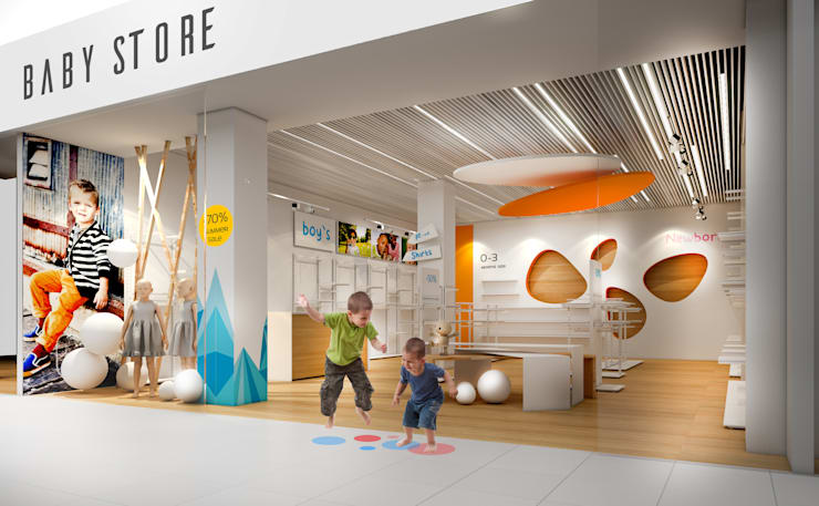 Офисы и магазины в . Автор – ZIKZAK architects