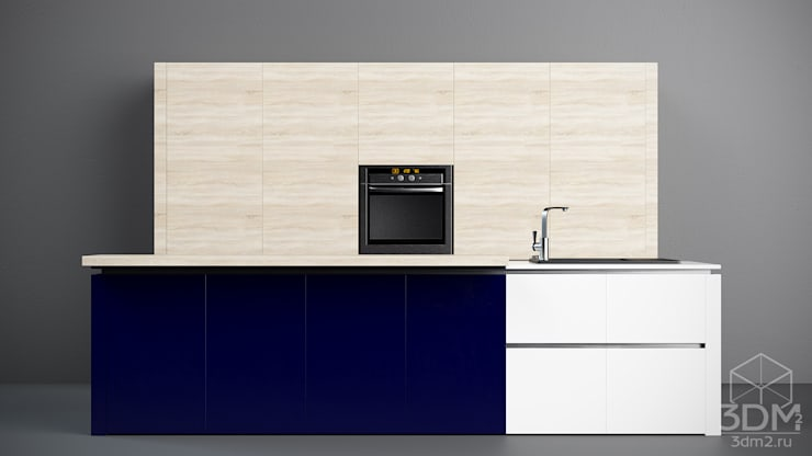02: Кухня в . Автор – студия визуализации и дизайна интерьера '3dm2'