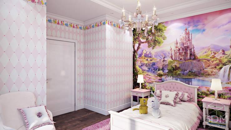 Recámaras infantiles de estilo minimalista por студия визуализации и дизайна интерьера '3dm2'