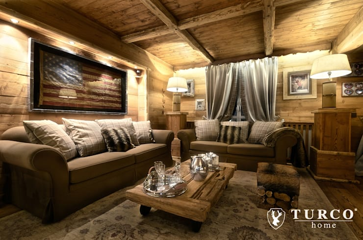 rustic Living room by turco home srl