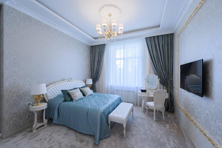 Интерьер квартиры: Спальни в . Автор – Antica Style, Классический