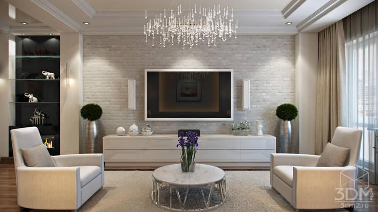03: Гостиная в . Автор – студия визуализации и дизайна интерьера '3dm2'