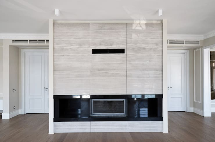 monoblok design & interiors – Tarabya B. Yali Project  _ Living Room:  tarz Oturma Odası