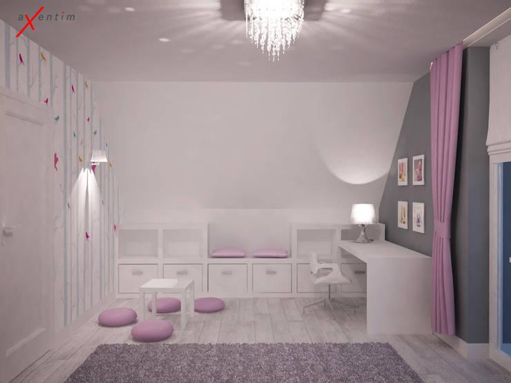 Dom z poddaszem: styl , w kategorii Pokój dziecięcy zaprojektowany przez Axentim