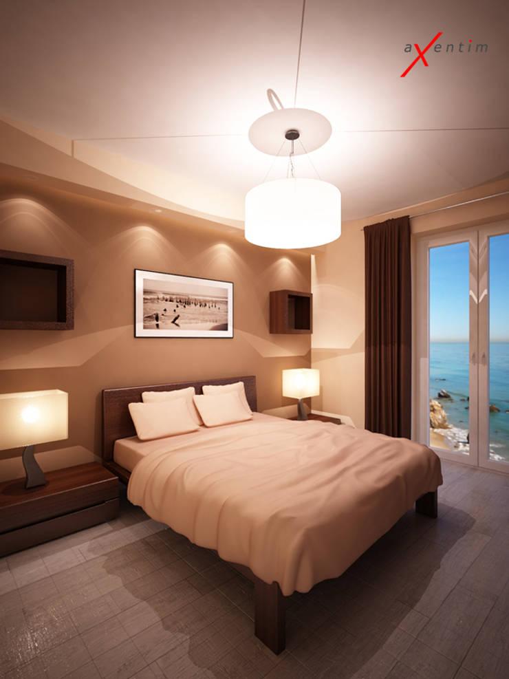 Dom z poddaszem: styl , w kategorii Sypialnia zaprojektowany przez Axentim