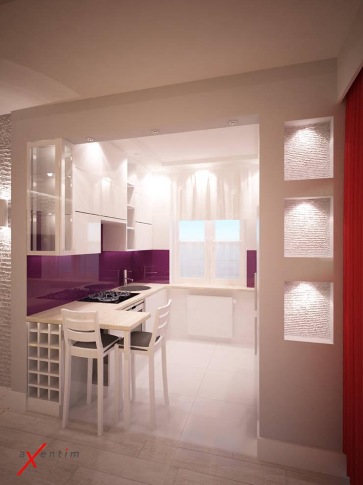Dom z poddaszem: styl , w kategorii Kuchnia zaprojektowany przez Axentim