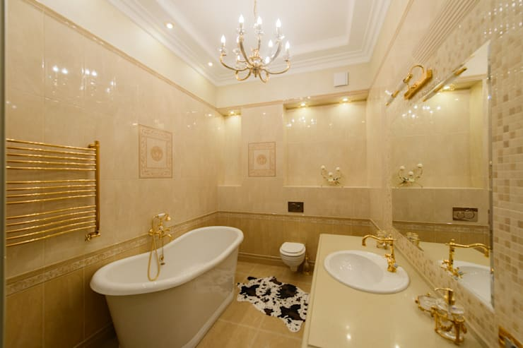 Интерьер квартиры: Ванные комнаты в . Автор – Antica Style