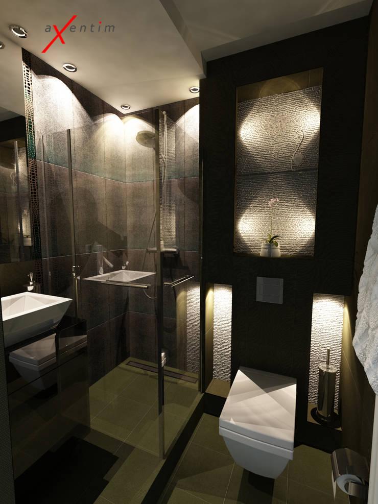 Mała łazienka w bloku: styl , w kategorii Łazienka zaprojektowany przez Axentim