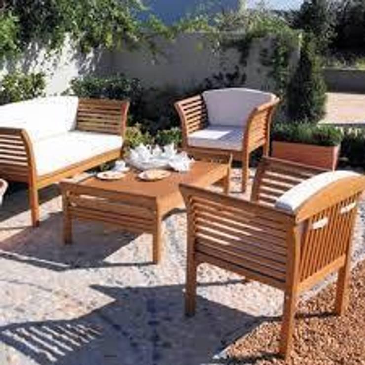 Jardin de style  par ASM GRUP bahçe mobilyaları ve ahşap uygulamaları