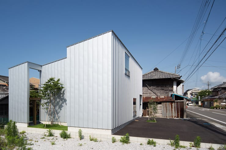 Zig Zag 外観: キリコ設計事務所が手掛けた家です。,モダン