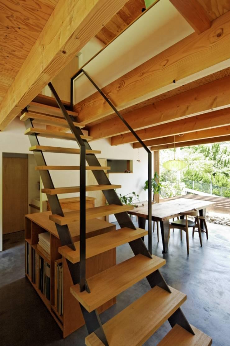 住吉山手の家: H+M アトリエが手掛けた廊下 & 玄関です。