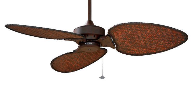 CASA BRUNO Windpointe ventilador de techo 'Isla Mallorca', marrón óxido/3: Hogar de estilo  de Casa Bruno American Home Decor