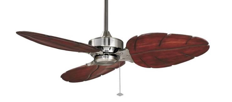 CASA BRUNO Windpointe ventilador de techo 'Puerto Mahón', estaño cromado/3: Hogar de estilo  de Casa Bruno American Home Decor