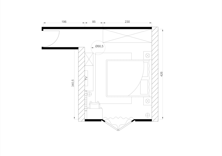 Plan après travaux par KARA Design