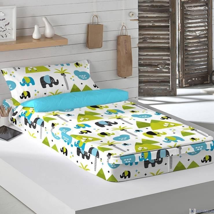 Saco Nórdico Infantil ELEPHANT KIDS Naturals: Dormitorios de estilo  de Gauus.es