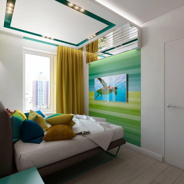 <q class='-first'>Нано-квартира</q>: Спальни в . Автор – 'Лайф Арт'